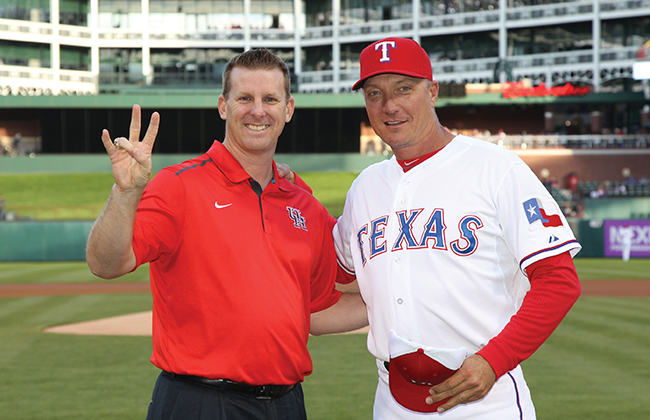 Associate Vice President for Alumni Relations Mike Pede ('89) and Banister