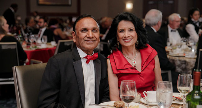 President Renu Khator and husband, Dr. Suresh Khator, at the 64th Alumni Awards Gala.